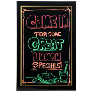 Black Markers Board Liquid Chalk Menu Sign 24 x 36