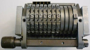 y offset Numbering Machine 8 Digit 1 8 Gothic Forward Indexing