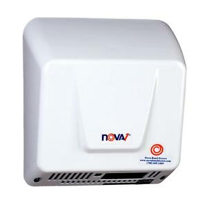 Nova 1 model 0830 By World White Alum Hand Dryer 110v 240v Ada Compliant