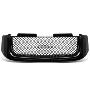 02 08 Gmc Envoy Black Bentley Style Mesh Badgeless Front Abs Grill Grille Guard