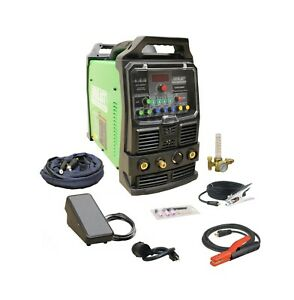 Powertig 200dv Gtaw p Dual Voltage 200amp Acdc Tig Stick Pulse Welder Everlast 1