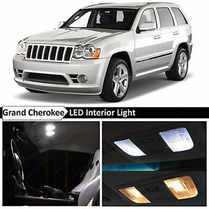 12x White Interior Led Lights Package For 2005 2010 Jeep Grand Cherokee