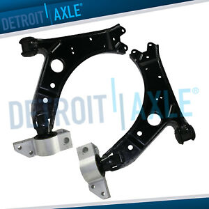 Both 2 New Front Lower Control Arm W Bushing For Volkswagen Jetta Audi