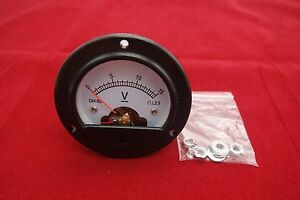 Dc 0 15v Round Analog Voltmeter Analogue Voltage Panel Meter Dia 66 4mm Dh52