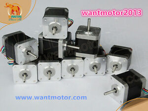Us Stock 10pcs Nema 17 Stepper Motor 4800g cm 48mm Wantai 42byghw811 3d Printer