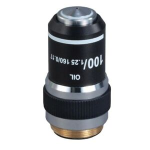 100x 1 25 Din Achromatic Objective Lens For Compound Microscopes oil Spring