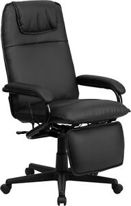 Flash Furniture High Back Black Leather Executive Reclining Swivel Office Chair