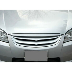 Front Hood Grill Garnish Silver 2p For 06 07 08 09 10 Chevy Holden Epica