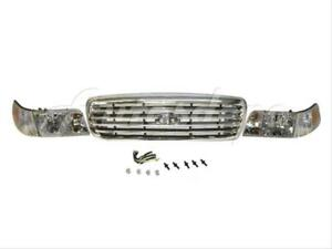 For 1998 2011 Crown Victoria Grille Chrome Frame Side Marker Headlight 5pcs