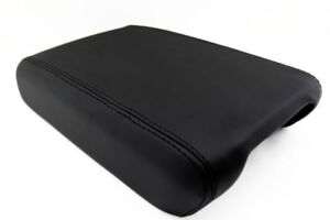 Armrest Console Lid Cover Real Leather For Gmc Acadia Enclave 07 16 Black