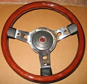 New 13 Wood Steering Wheel And Adaptor For Mgb 1970 1976 Mg Midget 1970 1977