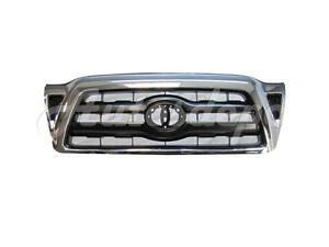 For 2005 2011 Tacoma Grille Black Insert With Chrome Frame