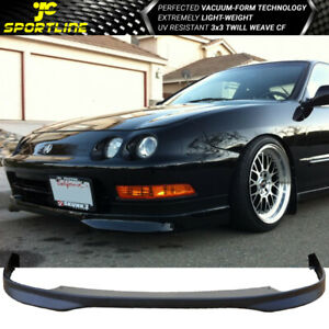 Fits 94 97 Acura Integra Dc2 Jdm Tr Style Pp Front Bumper Lip Black