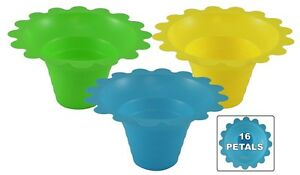 500 Ct 4 8oz Flower Cup Snow Cones shaved Ice ice Cream 3 Colors Free Shipping
