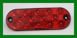 Maxxima 6 Low Profile Oval 14 Led Stop Tail Turn Light M63350r