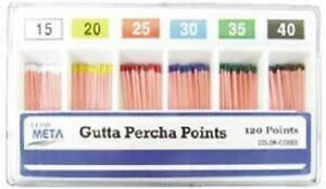 Meta Gutta Percha Points Size 35 Color Coded 06 Special Taper 60 box Dental