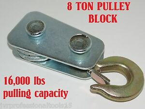 Pulley Block 8 Ton Winch Snatch Block Pulley Block