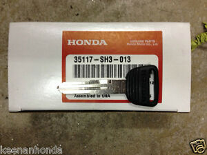 Genuine Oem Honda Civic Key Blank