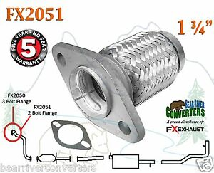 Fx2051 Semi Direct Fit Exhaust Flange Repair Flex Pipe Replacement Kit W Gasket