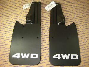 Toyota Tacoma Truck 4x4 Pre runner Rear Mud Flaps And Brackets And Bolts New