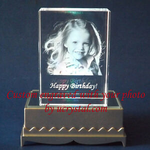 Personalized 2d Or 3d Laser Etched Engraved Custom Photo Crystal Engraving Gift