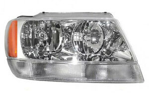 Headlight Assembly 99 04 Jeep Grand Cherokee Limited Rh