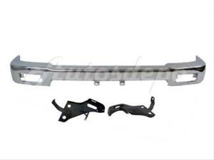 Bundle For 92 95 4wd Pickup Front Bumper Face Bar Chrome Mounting Arm Bracket 3p