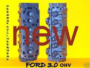 2 New Ford Ranger Taurus 3 0 Ohv Cylinder Heads 7mm small Spring 00 08 No Core