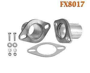 Fx8017 2 1 2 Od Universal Quickfix Exhaust Oval Flange Repair Pipe Kit Gasket