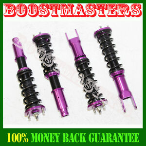 For 92 00 Civic 93 97 Del Sol 94 01 Acura Integra Coilover Suspension Kit Purple