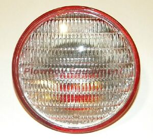 Tractor Combo Tail Work Light Sealed Beam Red Back 4 1 2 12 Volt 4409x For Many