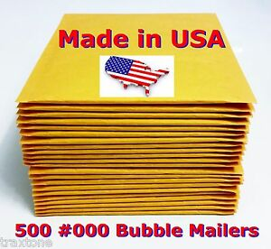 500 000 4x8 Bubble Mailers Padded Envelopes Bags Selfseal Usa 000