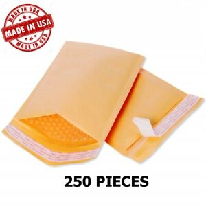 250 00 5x10 Bubble Mailers Padded Envelopes Bags Usa Free Shipping 00 5 x10