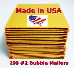 200 2 8 5x12 Bubble Mailers Padded Envelopes Bags 8 5 X 12 Usa Free Shipping