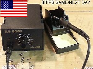 936b Esd Solder Station 50mm Solder Pot 120v Sn63a Solder Bar fast Us Ship