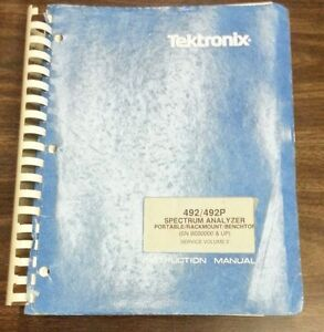 Tektronix 492 492p Sa Portable rackmount benchtop B030000 up Vol 2 Service Man