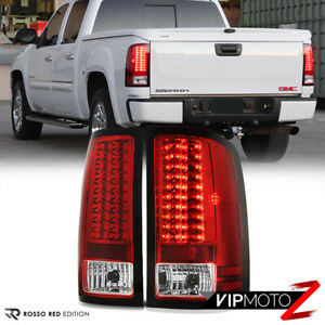 Premium 2007 2013 Gmc Sierra 1500 2500hd 3500hd Factory Red Led Tail Lights