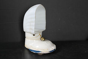 Nice Art Deco Porcelain Glass Wall Sconce As Found With Missing Socket 6821
