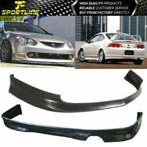 Fits 02 04 Acura Rsx Coupe 2dr Front Rear Bumper Lip Spoiler Bodykit Black Pu