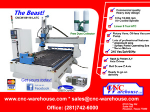 Cnc Warehouse Cnc Router engraver 3d Carver Model Cm 1325vatc