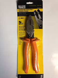 Klein D213 9necr ins Insulated Side Cutting Pliers connector Crimping