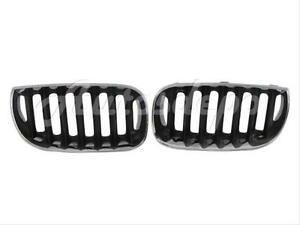 For 2004 2010 Bmw X3 e83 Front Kidney Grille Black With Chrome Frame Set
