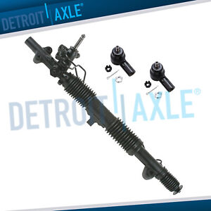 Complete Power Steering Rack Pinion Assembly W Outer Tie Rod Honda Civic 01 05