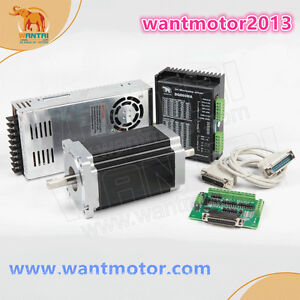 Us Free Ship Wantai 1axis Nema34 Stepper Motor Dual Shaft 1600oz in Cnc Kit