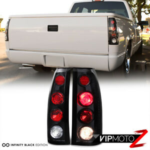 1988 1998 Chevy Silverado Tahoe Suburban Gmc Sierra Yukon Black Tail Lights Set