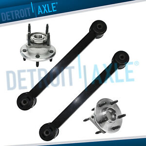 For 2006 2008 Jeep Commander 4pc Rear Control Arm Track Bar Wheel Hub Bearing