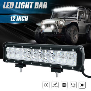 12 Inch 72w Cree Led Work Light Bar Flood Spot Suv Boat Driving Lamp Offroad 4wd