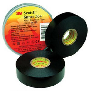 Scotch Vinyl Plastic Electrical Tape Super 33 Plus 3 4 X 52 3m 6133 10 Rolls