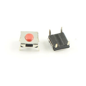 1000pcs Momentary Tactile Tact Red Push Button Switch 4 Pin Dip 6x6x2 7mm