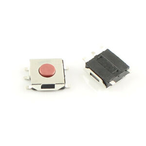 1000pcs Momentary Tactile Tact Red Push Button Switch 5 Pin Smd Smt 6x6x2 5mm